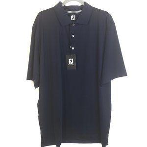 FootJoy FJ Navy Blue Short Sleeve Golf Polo, XL